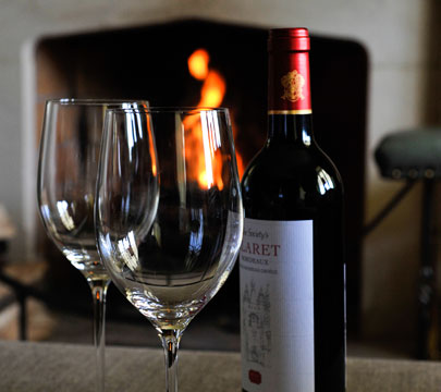 Wine by the Fireplace :: Hafod Cae Maen